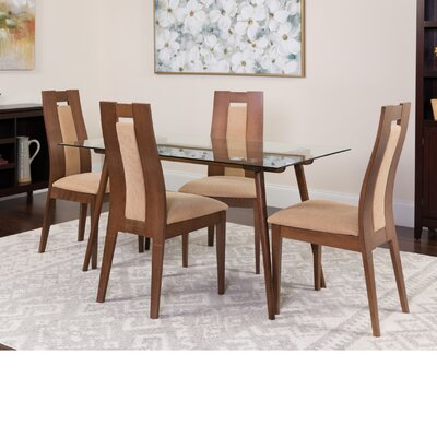 Hutton 5 Piece Dining Set Color: Walnut
