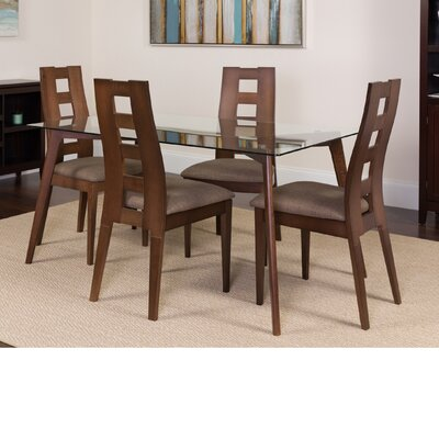 Hutto 5 Piece Dining Set Color: Espresso
