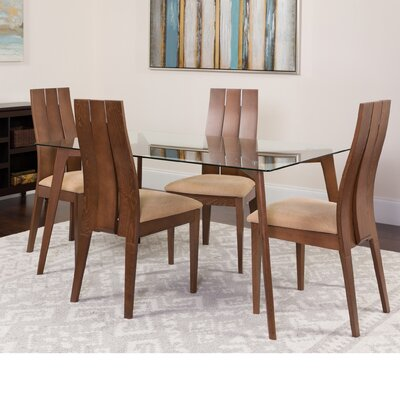 Hutter 5 Piece Dining Set Color: Walnut