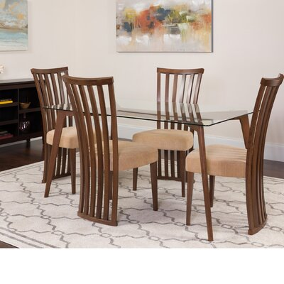 Hutt 5 Piece Dining Set Color: Walnut
