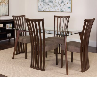 Hutt 5 Piece Dining Set Color: Espresso