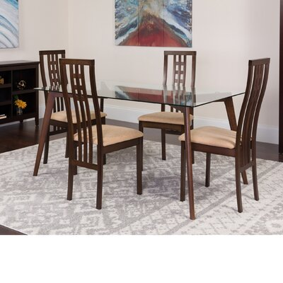 Hutsell 5 Piece Dining Set Color: Espresso