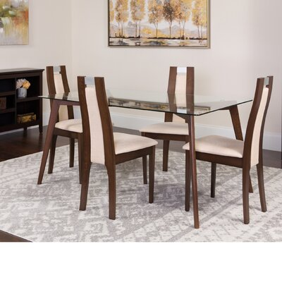 Hutchison 5 Piece Dining Set Color: Espresso