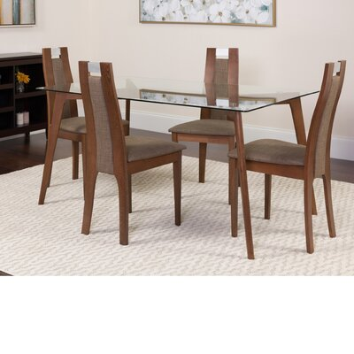 Hutchison 5 Piece Dining Set Color: Walnut