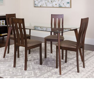 Hutcheson 5 Piece Dining Set Color: Espresso