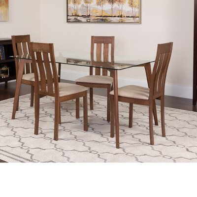 Hutcheson 5 Piece Dining Set Color: Walnut