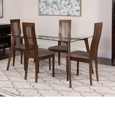 Hutchens 5 Piece Dining Set Color: Espresso