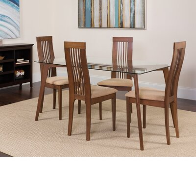 Hutchens 5 Piece Dining Set Color: Walnut