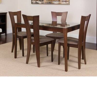 Huson 5 Piece Dining Set Color: Espresso