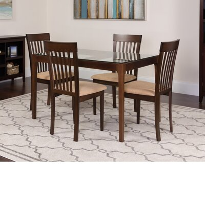 Husman 5 Piece Dining Set Color: Espresso