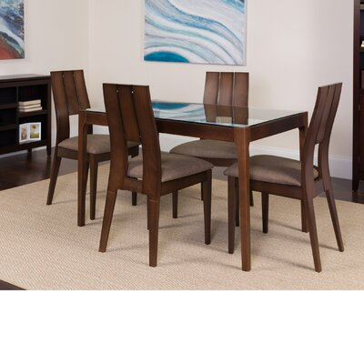 Huseman 5 Piece Dining Set Color: Espresso