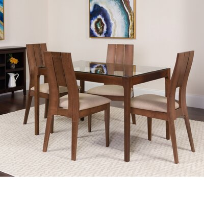 Huseman 5 Piece Dining Set Color: Walnut