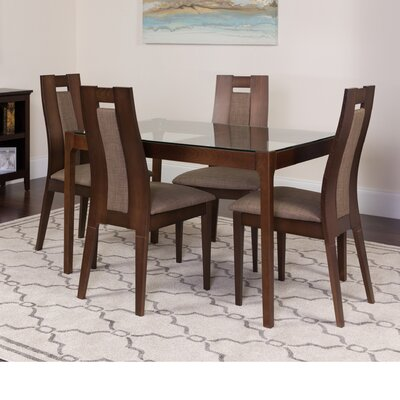 Huseby 5 Piece Dining Set Color: Espresso