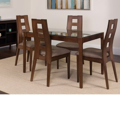 Husby 5 Piece Dining Set Color: Espresso