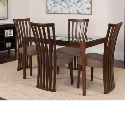 Hurtt 5 Piece Dining Set Color: Espresso
