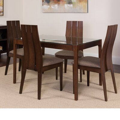 Hurwitz 5 Piece Dining Set Color: Walnut