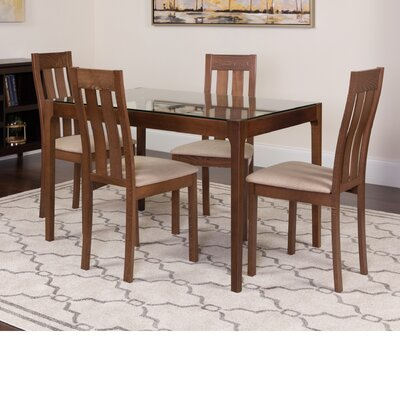 Hurlbert 5 Piece Dining Set Color: Walnut