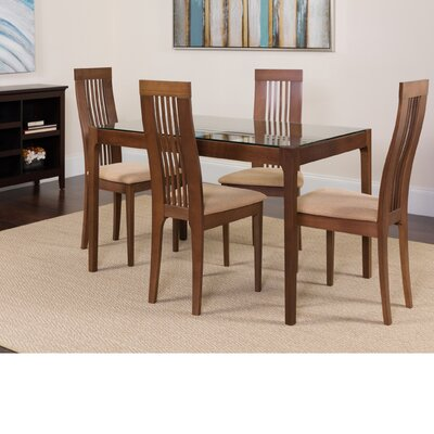 Hunziker 5 Piece Dining Set Color: Walnut