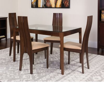 Huntsman 5 Piece Dining Set Color: Espresso