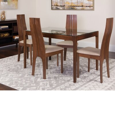 Huntsman 5 Piece Dining Set Color: Walnut