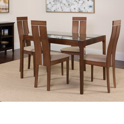 Huntsberry 5 Piece Dining Set Color: Walnut