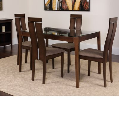 Huntsberry 5 Piece Dining Set Color: Espresso