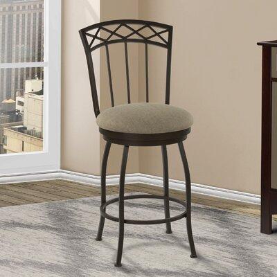 Duclos 30 Swivel Bar Stool Upholstery: Geneva Pepper
