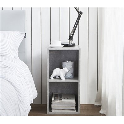 Althoff Cube Dorm Nightstand Color: Marble Gray