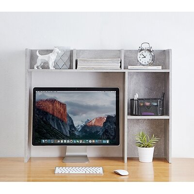 Classic 29 H x 37 W Desk Bookshelf Finish: Gray