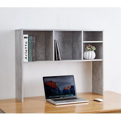 Cube 29 H x 37 W Desk Bookshelf Finish: Gray
