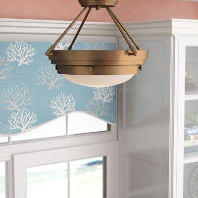 Aralene 3-Light Semi-Flush Mount Color: Warm Brass