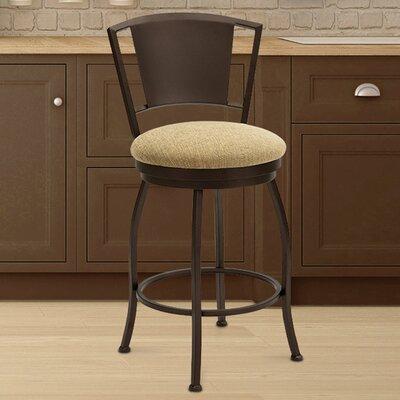 Kieninger 26 Swivel Bar Stool Frame Color: Sun Bronze, Seat Color: Cancun Bronze