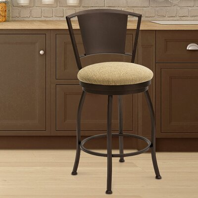 Kieninger 30 Swivel Bar Stool Frame Color: Sun Bronze, Seat Color: Cancun Bronze