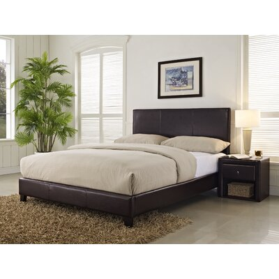 Kedzie Upholstered Platform Bed Color: Brown, Size: Queen