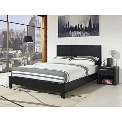 Kedzie Upholstered Platform Bed Color: Black, Size: Queen