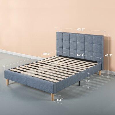Dimattia Upholstered Platform Bed Size: Queen