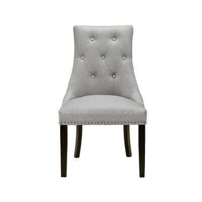 Chapman Lucas Upholstered Dining Chair Upholstery: Steel