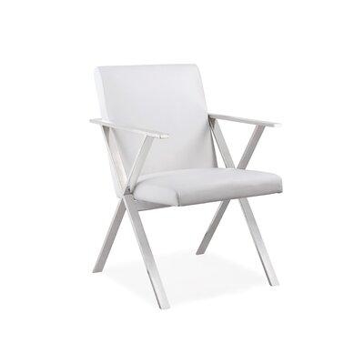 Janicki Julian Upholstered Dining Chair Upholstery: White