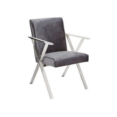 Janicki Julian Upholstered Dining Chair Upholstery: Charcoal