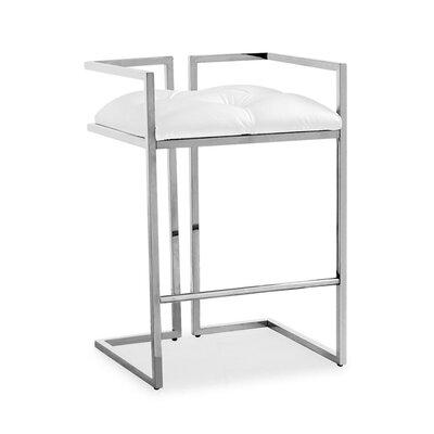 Jamarion Arthur Counter Bar Stool Upholstery: White