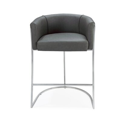Leugers Counter Bar Stool Upholstery: Dark Gray