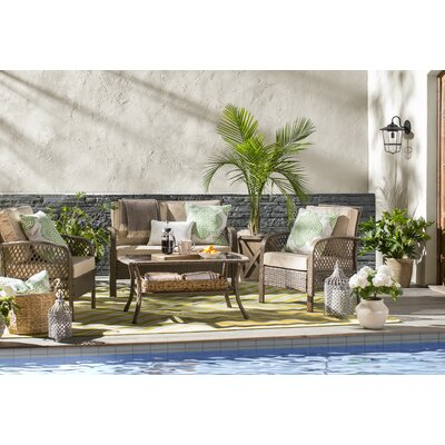 Heath Green/Ivory Indoor/Outdoor Area Rug Rug Size: Rectangle 710 x 1010