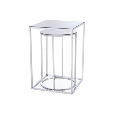 Neuman Brock 2 Piece Nesting Tables Color: Silver