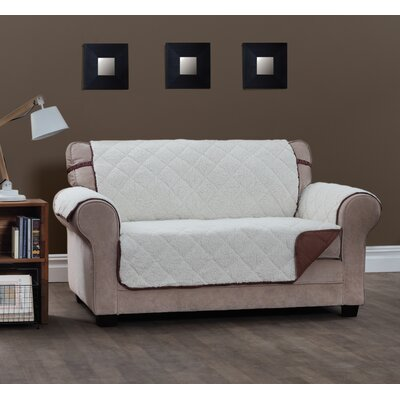 T-Cushion Sofa Slipcover Size: 0.25 H x 110 W x 75.5 D