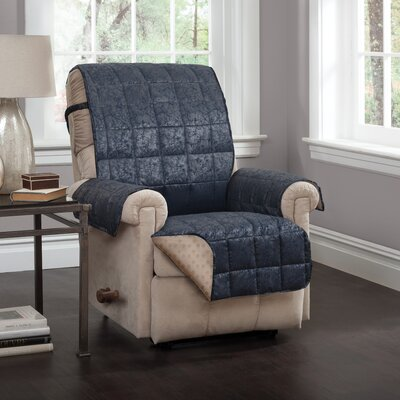 T-Cushion Recliner Slipcover Upholstery: Navy