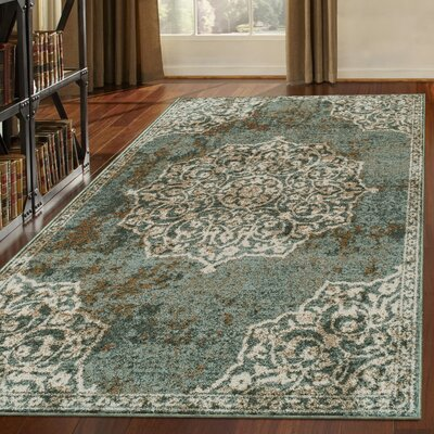 Mcgill Blue/Gray Area Rug Rug Size: Rectangle 5 x 8