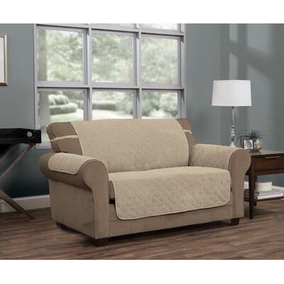 T-Cushion Sofa Slipcover Upholstery: Natural