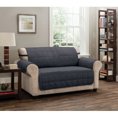T-Cushion Loveseat Slipcover Upholstery: Charcoal