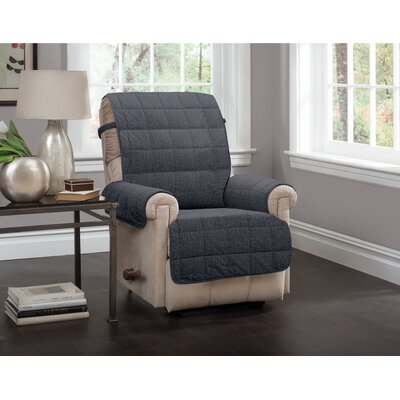 T-Cushion Recliner Slipcover Upholstery: Charcoal
