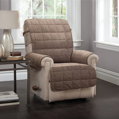 T-Cushion Recliner Slipcover Upholstery: Brown